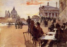 John Singer Sargent, Caffè Orientale alla Riva degli Schiavoni, Venezia, 1880-1882  (Private Collection)