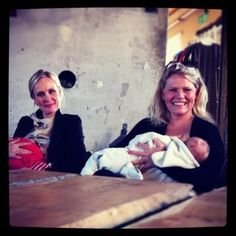 I love this: Icelandic presidential candidate Thora Arnorsdottir (on left), plans to continue #breastfeeding if she wins. Way to go! :)