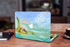 Cute Turtle MacBook 2019 Decal MacBook Pro 13 Skin Ocean MacBook Pro 16 Skin MacBook Pro 15 Skin Summer MacBook 13 inch Decal Mac Pro 15 by DesignerSkinUA on Etsy Macbook 15 Inch, Macbook Air 11, Macbook Pro Retina, How To Make Stickers, Cool Stickers, Macbook Skin, Laptop Skin, Cute Turtles