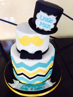 Delightful Lil Man Mustache Baby Shower Cake | Cakes Beautiful Cakes For The Occasions  | Pinterest | Shower Cakes, Cake And Babies