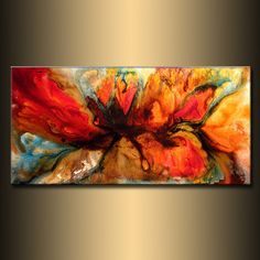 Modern Abstract Painting original Canvas art by newwaveartgallery, $600.00