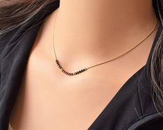 Fashion Necklace Dainty Necklace Lightning Necklace Sterling Silver Best Friend Necklaces For 2 Circle Pendant One Gram Gold Chain Delicate Gold Necklace, Dainty Gold Necklace, Gold Jewelry Simple, Beaded Necklace, Simple Necklace, Pendant Necklace, Gold Mangalsutra Designs, Gold Jewellery Design, Fancy Jewellery