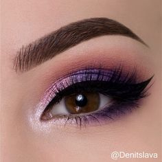 "7,589 Likes, 129 Comments - Denitslava (@denitslava) on Instagram: ""Hey guys  I'm back with another quick tutorial on a cute pink-purple smokey eye  Press play …"""