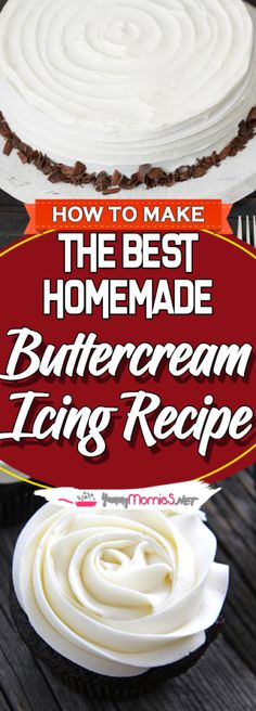 "Welcome again to ""Yummy Mommies"" the home of meal receipts & list of dishes, Today i will guide you how to make ""The Best Homemade Buttercream Icing Recipe"". I made this Delicious recipe a few Home Made Icing Recipe, Decorating Icing Recipe, Cake Decorating Tips, Cake Icing Recipe Easy, Homemade Buttercream Icing, Frosting Recipes, Cake Recipes, White Buttercream Frosting, Crusting Buttercream"