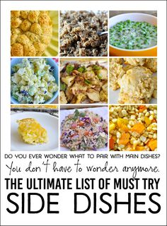The ultimate list of must try side dishes! Great ideas for parties or potlucks! Found on www.thirtyhandmadedays.com