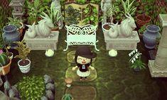 animal crossing decor ideas! - comfortcrossing: My sculpture garden!