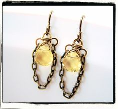 114 Brilliant Yellow Citrine Antique Brass Tassel by FashionWire, $19.99.....these are gorgeous!