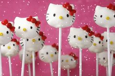 Cake pops with snow :)