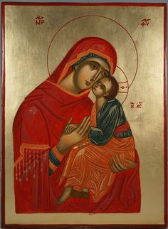 Mother of God Eleusa (Theotokos Sweet Kissing) About our icons BlessedMart offers hand-painted religious icons that follow the Russian, Greek, Byzantine and Roman Catholic traditions. We partner with some of the most experienced iconographers in the country. Artists with more than 20 years of experience in modern iconography. Each and every icon that we sell in our