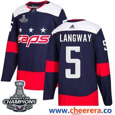 Adidas Washington Capitals  5 Rod Langway Navy Authentic 2018 Stadium  Series Stanley Cup Final Champions Stitched NHL Jersey dc508ab25