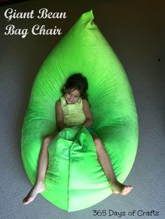 Make the ultimate bean bag chair in under an hour inspired by the Fatboy or Omni Sumo bags. This DIY version is a great beginner sewing project. Easy sew