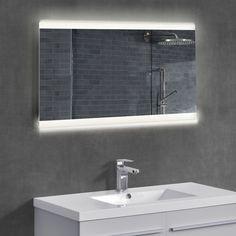 Badezimmerspiegel mit led beleuchtung  ECO Badspiegel mit LED Beleuchtung Wandspiegel Badezimmerspiegel ...