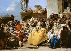 Image: Giovanni Domenico Tiepolo - The Minuet or Carnival Scene