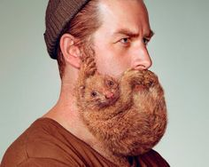 Y&R grow animal beards for schick's free your skin campaign; how is this my first time seeing these?