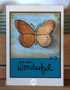 Here's a card I created for Darkroom Door, using the Fine Butterflies and Simple Sayings Vol 2 stamp set.     Een kaartje dat ik voor Da...