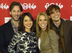 "Jeff Baena, from left, Aubrey Plaza, Cheryl Hines and Matthew Gray Gubler at the Library Center Theatre in Park City for the Sundance Film Festival premiere, ""Life After Beth. Life After Beth, Independent News Sources, Cheryl Hines, Library Center, Aubrey Plaza, Matthew Gray Gubler, Sundance Film Festival, Park City, Theatre"