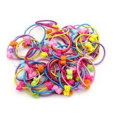 10Pcs//Set Candy Baby Girl Hair Band Elastic Cheveux Corde Bande De Caoutchouc Coiffure