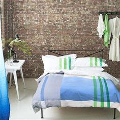 Hudson Cobalt Bed Linen   Designers Guild
