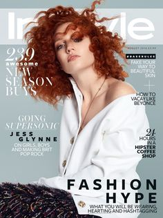 Jess Glynne on InStyle UK magazine August 2016 Cover