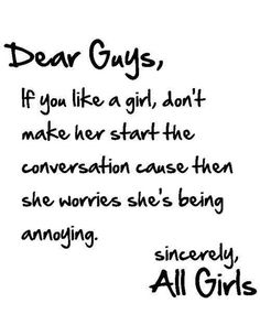 something to say to a girl