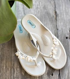 b9f7b20470ac2 Oka-B s Harper sandals adorned with precious pearls and shells are the  perfect sandals for