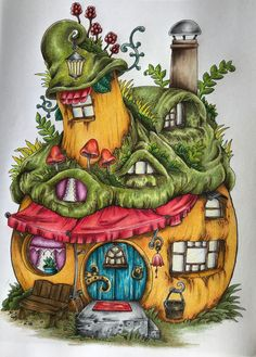 669 Best fairy homes images in 2019 Adult coloring