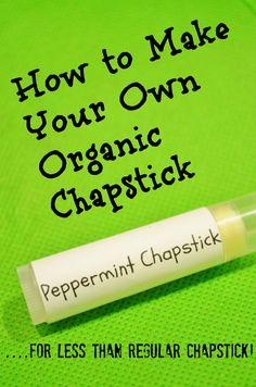 DIY organic chapstick