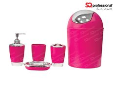 set pour salle de bain 5pcs rose ce set daccessoires de salle - Accessoire De Salle De Bain Rose Mauve