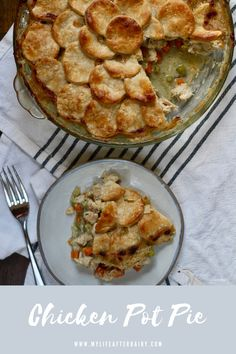 This dairy free Chicken Pot Pie is the ultimate comfort food. It's creamy filling packed with chicken, carrots, celery, and peas leaves you full and satisfied. With a flaky dairy free crust, this dish makes the perfect comforting dinner. #cickenpotpie #dairyfree #comfortfood #mylifeafterdairy Chicken Recipes Dairy Free, Yummy Chicken Recipes, Yum Yum Chicken, Creamy Tomato Sauce, Create A Recipe, Comfortfood, Pot Pie, Pasta Dishes, Celery