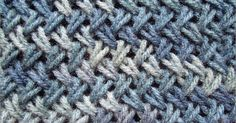 Criss-Cross stitch is very similar to herringbone stitch and it will look amazing on scarves, bags or accessory project. The stitch is a bit more time consuming and it might be a bit more challenging to beginners. :(