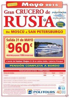 Gran Crucero de RUSIA, salida 31 de Mayo (10d/9n) precio final 1.038€ (Incluido Visado) ultimo minuto - http://zocotours.com/gran-crucero-de-rusia-salida-31-de-mayo-10d9n-precio-final-1-038e-incluido-visado-ultimo-minuto-7/