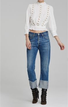 Parker Relaxed Cuffed Crop in Anberlin