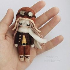 Amigurumi mini pilot girl doll. ♡ (Inspiration).