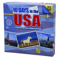 10 Days In The USA -  enjoyable quick playing game about collecting 10 tiles to indicate a trip around the US.  Good for helping kids learn states,  but a fun game for adults too.
