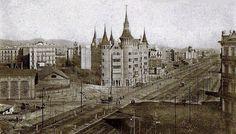 BARCELONA, AHORA Y SIEMPRE: LA FAMOSA DIAGONAL -1900 - En el cruce con calle Roger de Llùria.