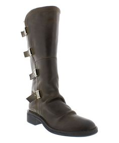Look what I found on #zulily! Olive Felk Leather Boot #zulilyfinds