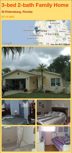 3-bed 2-bath Family Home in St Petersburg, Florida ►$114,900 #PropertyForSale #RealEstate #Florida http://florida-magic.com/properties/77069-family-home-for-sale-in-st-petersburg-florida-with-3-bedroom-2-bathroom