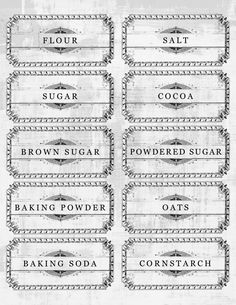 Free Printable French Pantry Labels!
