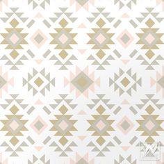 Aztec Raven + Lily Removable Wallpaper