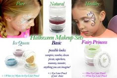 Pure - Natural - Safe Halloween Makeup Sets Create fabulous Halloween looks with these limited edition sets.    http://www.laurenbrookecosmetiques.com/collections/featured-products