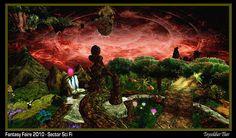 SectorSciFi-CenterGarden-FireSky Past, Aquarium, Sci Fi, Fire, Sky, Fantasy, Amazing, Goldfish Bowl, Heaven