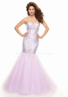 Empire Tulle Mermaid Sleeveless Sweetheart Prom Gown