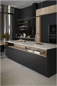 Browse photos of Minimalist Kitchen. Find ideas and inspiration for Minimalist Kitchen to add to your own home. Grey Kitchen Designs, Kitchen Design Open, Interior Design Kitchen, Home Design, Design Ideas, Open Kitchen, Kitchen Small, Cup Design, Design Concepts