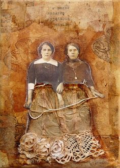 """Ladies in Lace"" Collage"