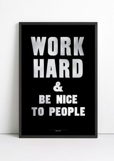Work Hard - Love Anthony Burrill