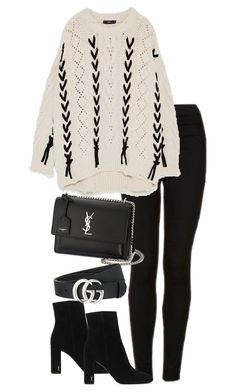 """Untitled #4500"" by theeuropeancloset on Polyvore featuring Topshop, Yves Saint Laurent and Gucci"