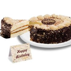 This delectable coffee-washed cake is two layers with classic mascarpone custard filling in between. The cake is then garnished with delicious coffee whipped cream, dark chocolate shaves and a dusting of cocoa. That's Amore! Order Birthday Cake Online, Birthday Cake Delivery, Birthday Cake For Mom, Birthday Cakes, Happy Birthday, Fresh Cake, Biscuits, Online Cake Delivery, Cakes Today
