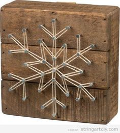 String Art DIY Christmas, snowflake