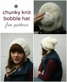 forty percent fringe : sixty percent face: the super chunky bobble hat pattern