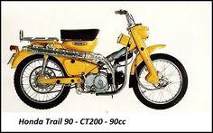 Motocicleta Honda Trail 90 - CT200 - 90cc